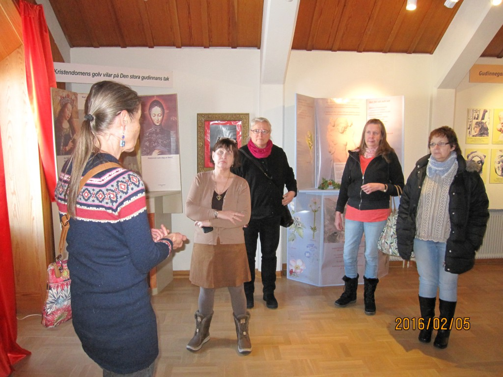 Besök av Ninni Melander + några till, från Kramfors Kommuns kulturavdelning. Fredag 5 feb 2016.